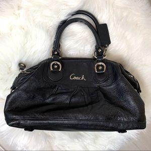 Coach Ashley Black Leather F15445 Handbag Satchel